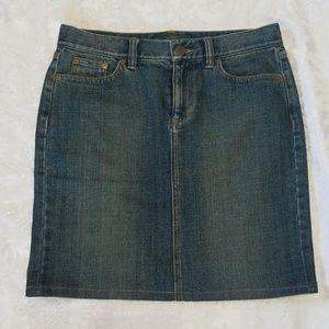 Ralph Lauren Jean Pencil Skirt